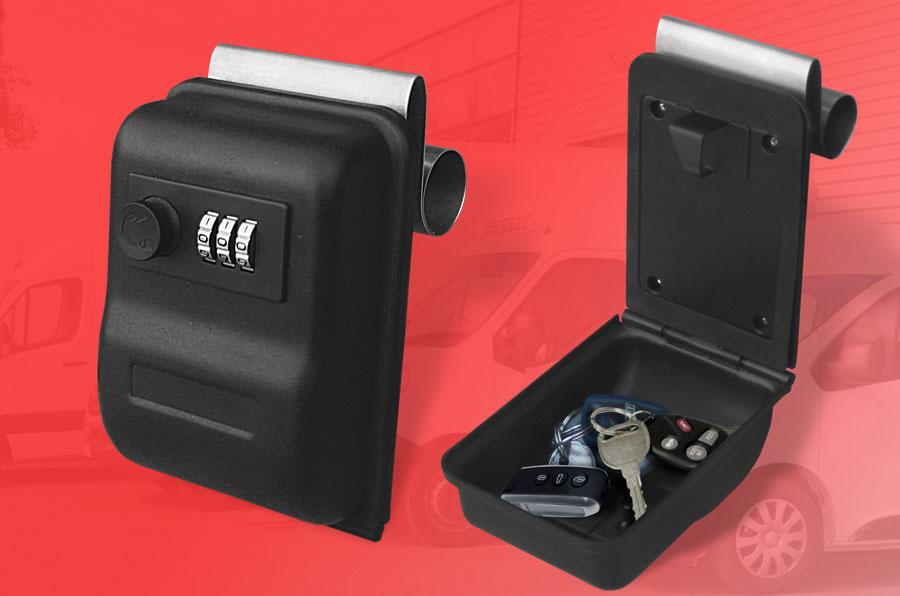 Caja guardallaves para cristal KVBOX - Apertura con clave.