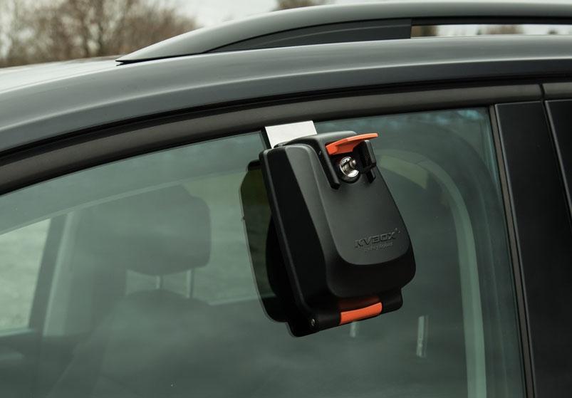 Car key box for window. KVBOX . Key opening