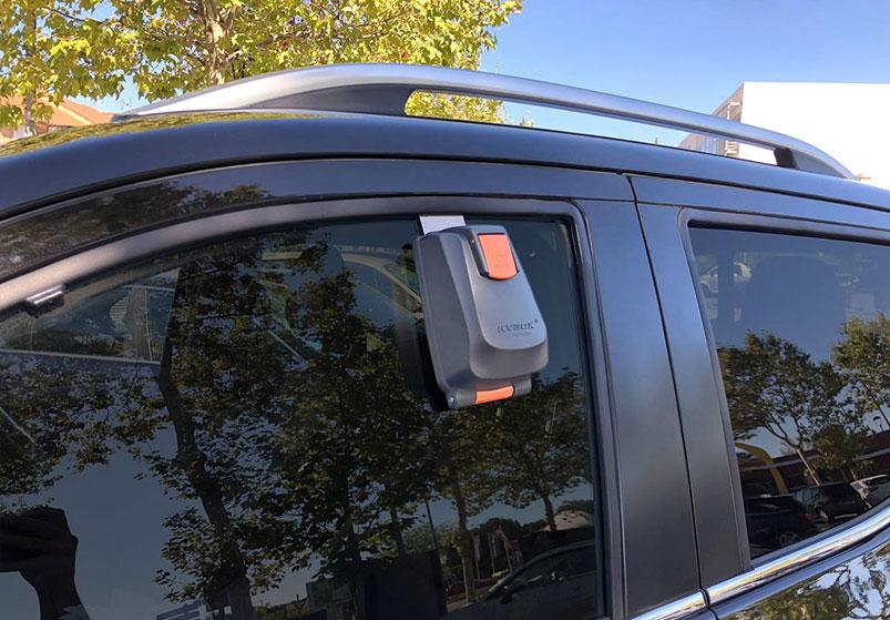 Car dealer key box for window. KVBOX . Key opening